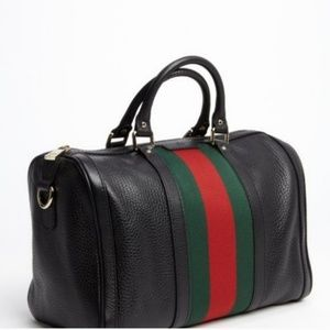 Authentic Gucci web ribbon Boston bag